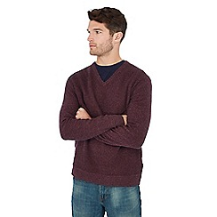 Mantaray - Dark purple maze knit cotton jumper