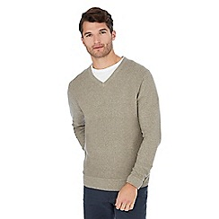 62413fbd1e37 Mantaray - Big and tall taupe maze knit cotton jumper