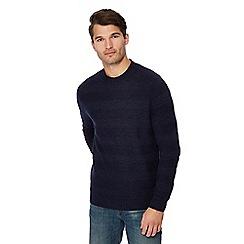 Mantaray - Navy stripe knit cotton jumper