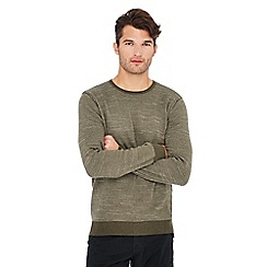 Mantaray - Green feeder stripe jumper