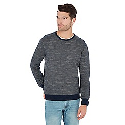 Mantaray - Navy feeder stripe jumper