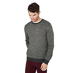 Mantaray - Grey feeder stripe cotton jumper