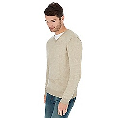 Mantaray - Dark cream feeder stripe jumper
