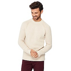 Mantaray - Cream textured knit jumper with wool