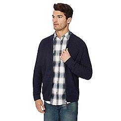 Mantaray - Navy textured baseball sweatshirt