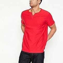 Mantaray - Red notch neck t-shirt