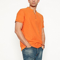Mantaray - Orange y-neck t-shirt
