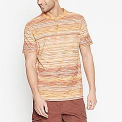 Mantaray - Big and Tall Orange Striped T-Shirt
