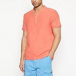 Mantaray - Big and Tall Pink Notch Neck T-Shirt