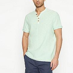 Mantaray - Pale Green Notch Neck T-Shirt