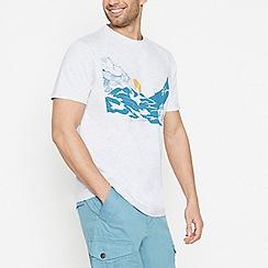 Mantaray - Off White Mountain Print T-Shirt