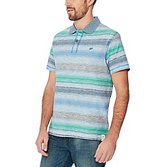 Mantaray - Big and tall blue ombre stripe cotton polo shirt