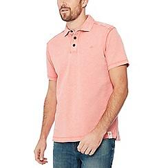 Mantaray - Big and tall peach cotton polo shirt