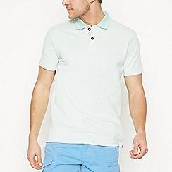 Mantaray - Light Green Textured Cotton Polo Shirt