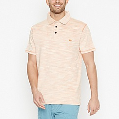 Mantaray - Orange Striped Space Dye Cotton Polo Shirt