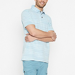 Mantaray - Big and Tall Blue Space Dye Polo Shirt