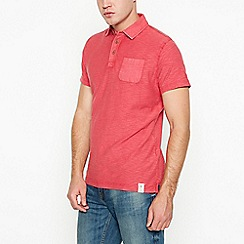 Mantaray - Red vintage wash cotton polo shirt