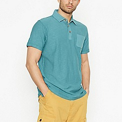 Mantaray - Green Vintage Wash Cotton Polo Shirt
