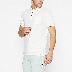 Mantaray - Off White Vintage Wash Cotton Polo Shirt