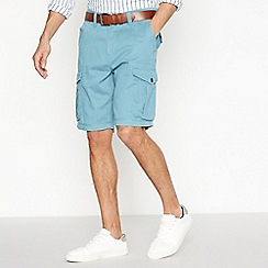 Mantaray - Big and tall dark turquoise cargo shorts