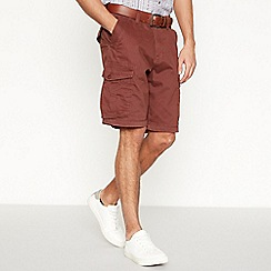 Mantaray - Dark brown cargo shorts
