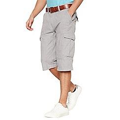 Mantaray - Light grey crosshatch shorts