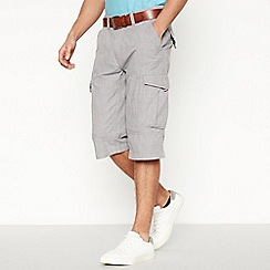 Mantaray - Light grey crosshatch shorts