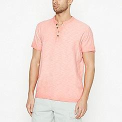 Mantaray - Pink Notch Neck Cotton T-Shirt