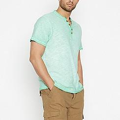 Mantaray - Green Notch Neck T-Shirt