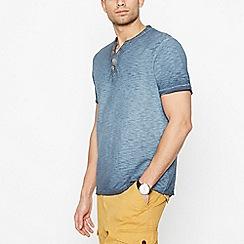 Mantaray - Big and tall Blue Notch Neck T-Shirt