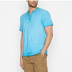 Mantaray - Bright Blue Notch Neck T-Shirt
