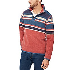 Mantaray - Orange placement stripe sweater
