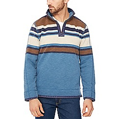 Mantaray - Pale blue placement stripe sweater