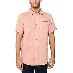 Mantaray - Big and tall orange short sleeve regular fit shirt