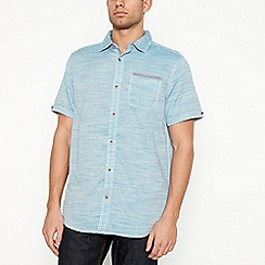 Mantaray - Big and tall dark turquoise short sleeve regular fit shirt