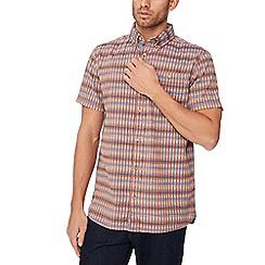 Mantaray - Orange textured short sleeve regular fit shirt