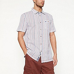 Mantaray - Red vintage stripe short sleeve regular fit shirt