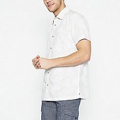 Mantaray - Off White Seashell Short Sleeve Regular Fit Shirt