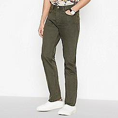 Mantaray - Khaki Straight Leg Jeans