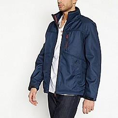 Mantaray - Navy Funnel Neck Softshell Jacket