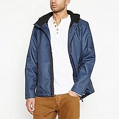 Mantaray - Big and tall navy funnel neck jacket