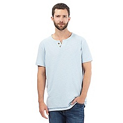Mantaray - Big and tall pale blue notch neck t-shirt