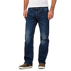 Mantaray - Big and tall mid blue wash loose fit jeans
