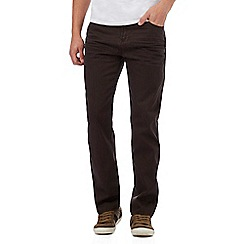 Mantaray - Brown straight leg trousers