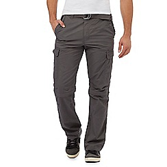 Mantaray - Big and tall dark grey zip off cargo trousers
