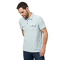 Mantaray - Pale blue vintage wash polo shirt