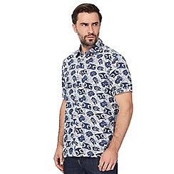Mantaray - Big and tall blue printed regular fit shirt