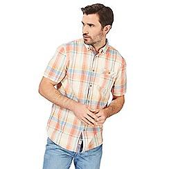 Mantaray - Big and tall orange checked shirt