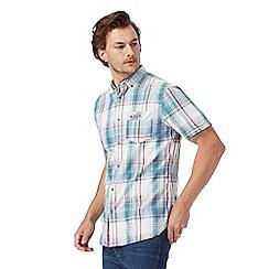 Mantaray - Big and tall dark green textured check regular fit shirt