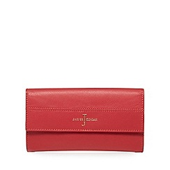 J by Jasper Conran - Red leather large flapover purse